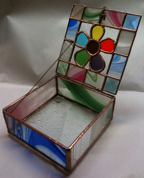 df4e303b8868 Stained Glass Jewelry Box Flower Power by PeaceLuvGlass on Etsy ...