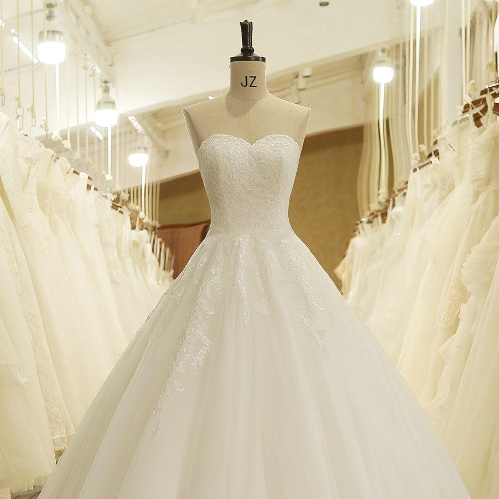 How much are wedding dresses  Sweetheart Hidden Zipper Off the Shoulder Lace Wedding Dress