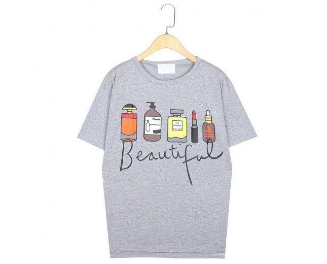 Perfume and Lip Print T-Shirt #LipTop #LipTShirt