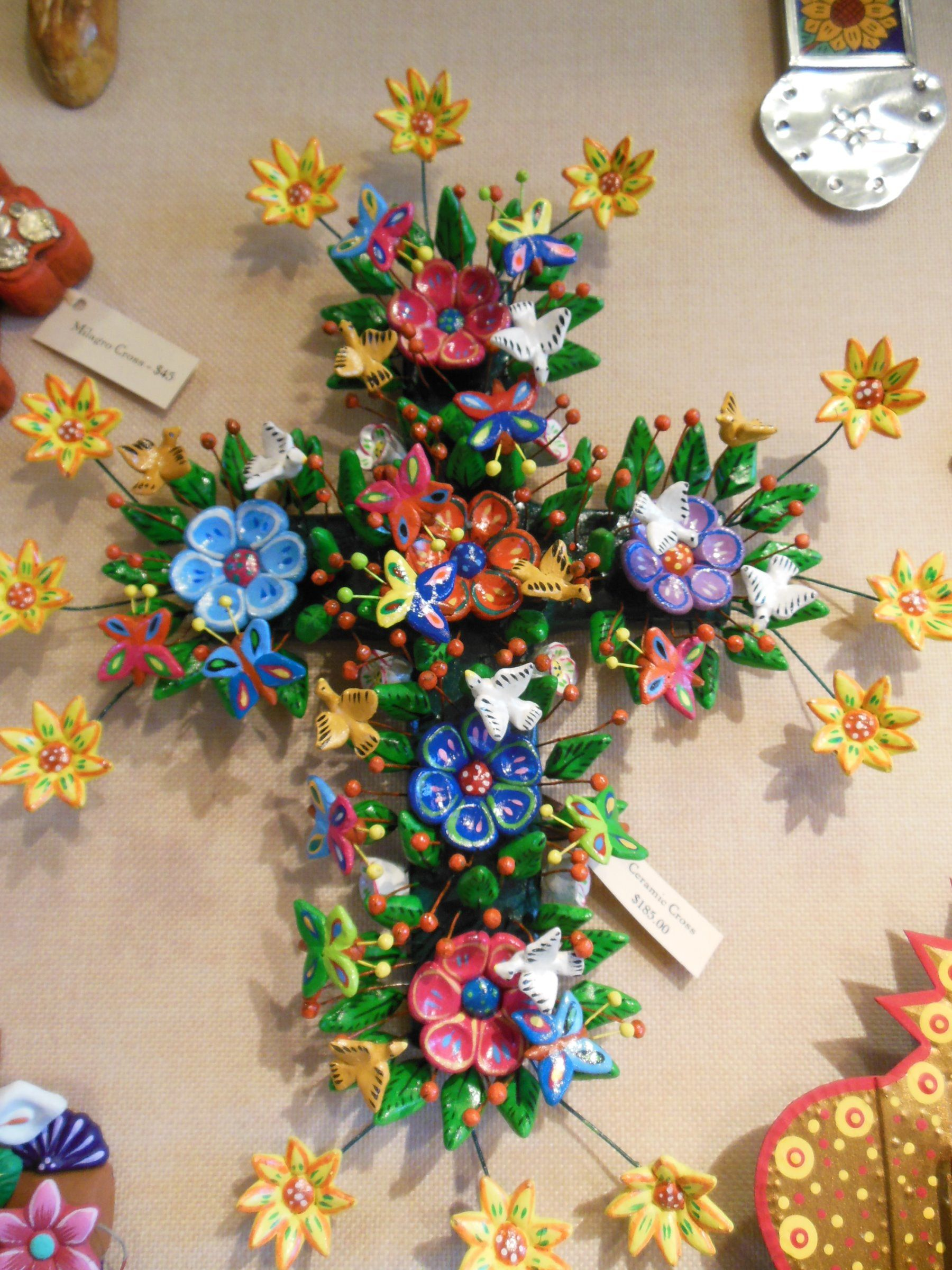 Beautiful Spanish style floral cross from the gift shop at