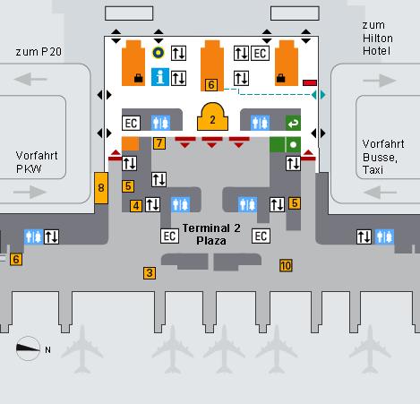 Munich Airport Terminal 2 Plan Flughafen
