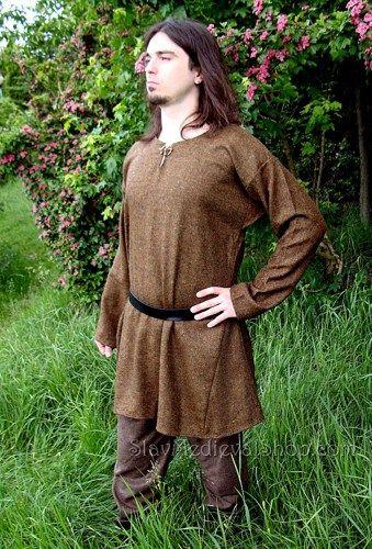 Tunic Of Birka Early Medieval Scandinavian Viking Tunic Slavmedievalshop Clothing On Artfire Viking Tunic Viking Costume Viking Dress