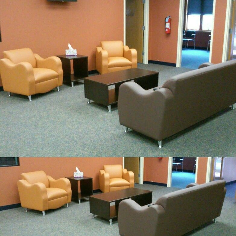 Custom designed lounge area for health care rehab center