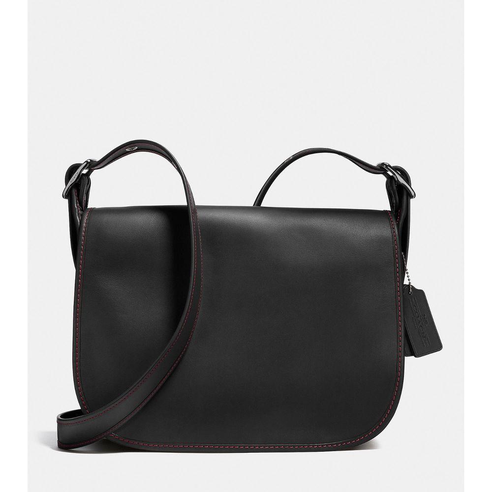 Coach Saddle Bag Glovetanned Leather Handbag Black Nwt 55298 395 Saddlebag