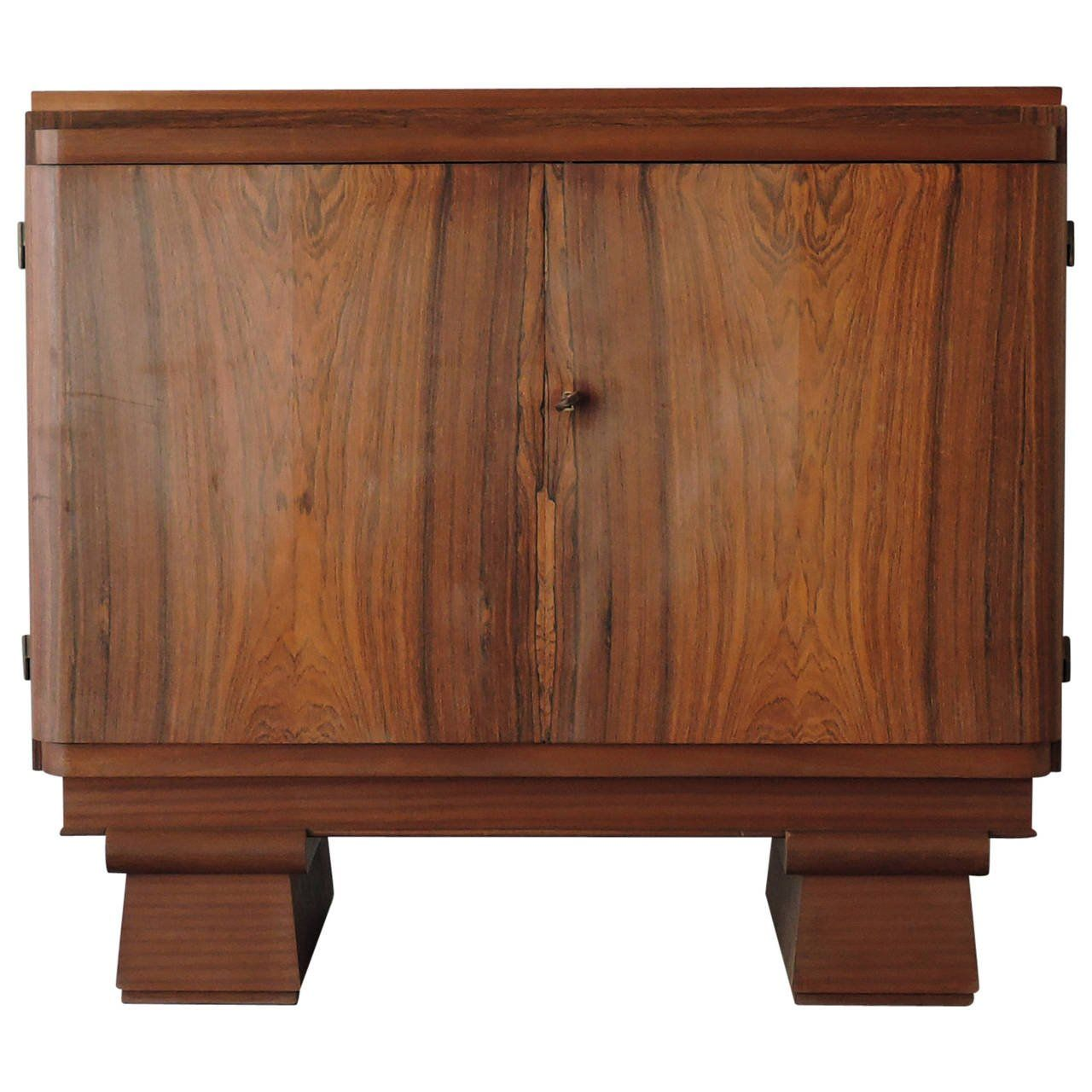 small french art deco rosewood buffet or cabinet