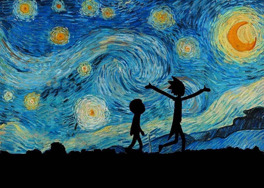 Pin De Remon Talaat Em Satrry Night Pintura De Galaxia