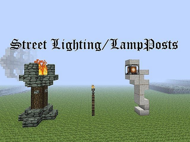 Wonderful Zeverthu0027s Brisk Builds   2   Street Lighting/LampPosts Minecraft Project