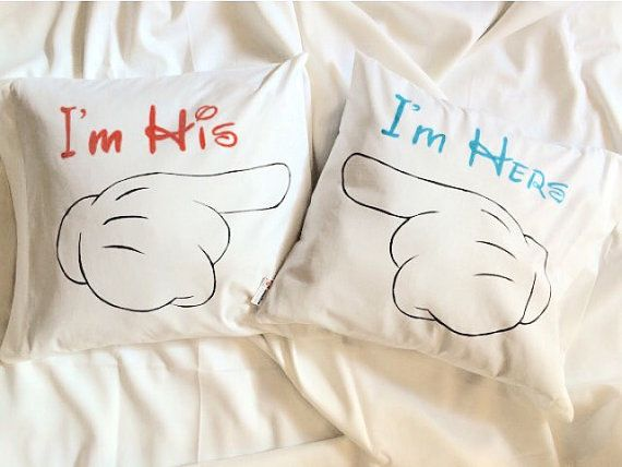 personalized pillow couple pillowcases couples pillow cases his and