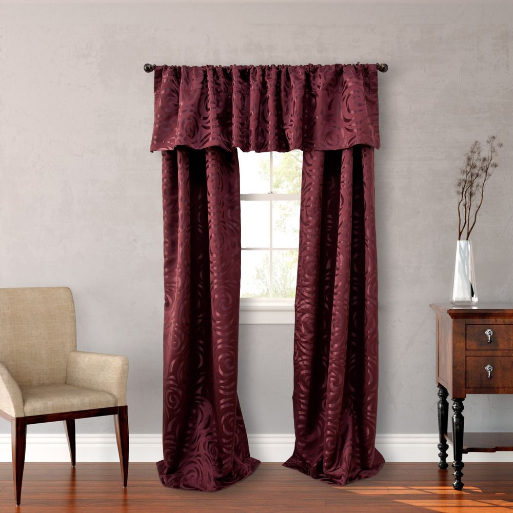 Curtain pair overstock shopping great deals on lights out curtains - Nicole Miller Red 84 Inch Madison 4 Piece Lined Curtain Panel Pair By Nicole Miller