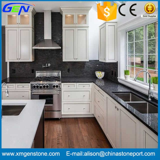 White Kitchen Cabinets Quality: Source Modern Design High Quality Polished Black Marble