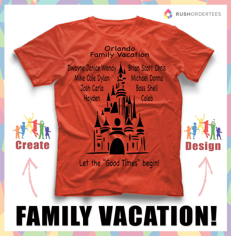 Family vacation custom t-shirt design idea's! Create awesome ...