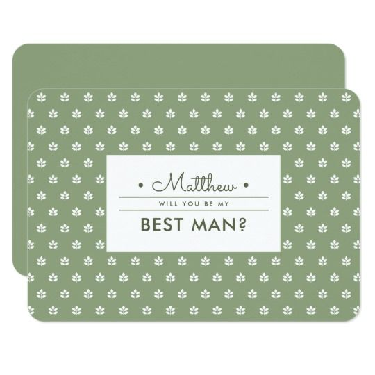 Will you be my Best Man? Custom Invitations White branches - best of invitation name designs