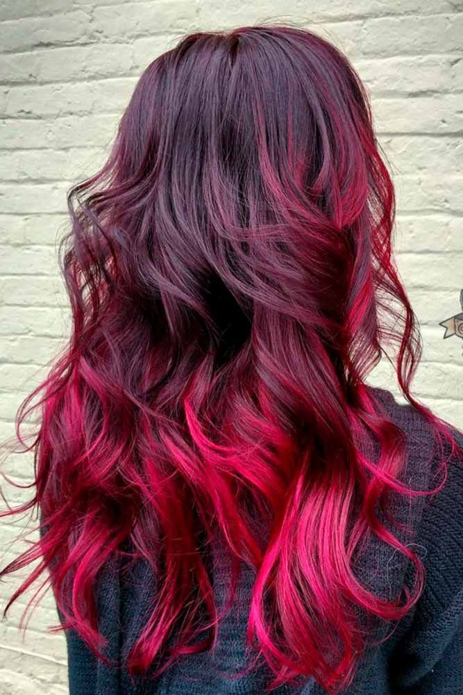 23 beautiful red ombre hair tutoriels coiffure longs. Black Bedroom Furniture Sets. Home Design Ideas