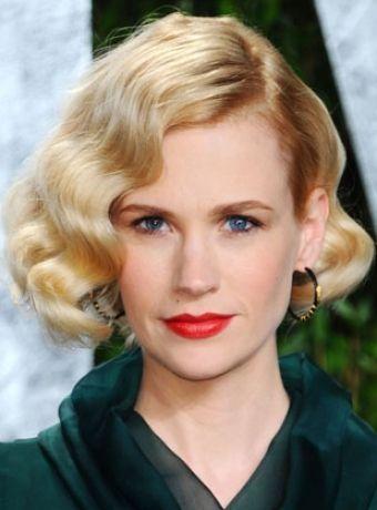 Wavy Vintage Curls Medium Hair Styles Vintage Hairstyles 1940s Hairstyles