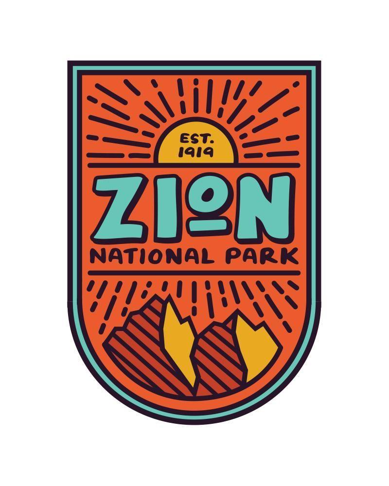 Zion National Park Sticker Parking Design Badge Design Zion National Park [ 1000 x 800 Pixel ]