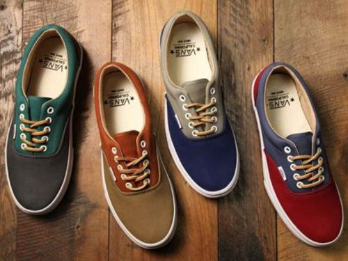 vans boat shoes blue and brown