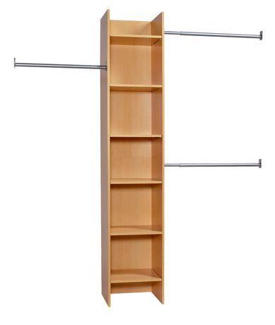 Closet Rods Walmart Flexhome Closet Organizer Tower  Rods Maple For Sale At Walmart