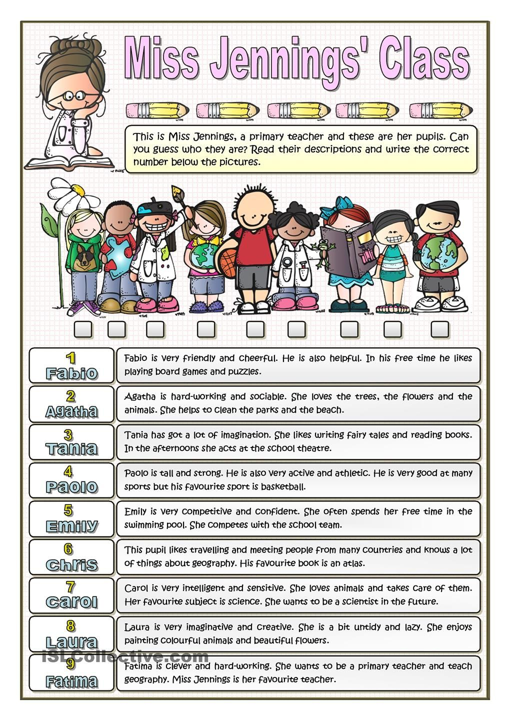 worksheet Esl Personality Worksheet miss jennings class personality and interests follow my 236 free esl adjectives to describe character worksheets
