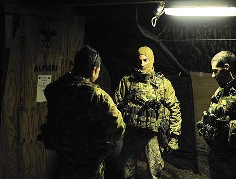 Afghanistan by night for Italian 9 Parachute Assault Regiment. Credits to Marco Alpozzi photojournalist.
