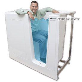 Deep Bathtubs, Sit Up Bath U003d Good Idea. This Guy? Best Idea Ever Created.