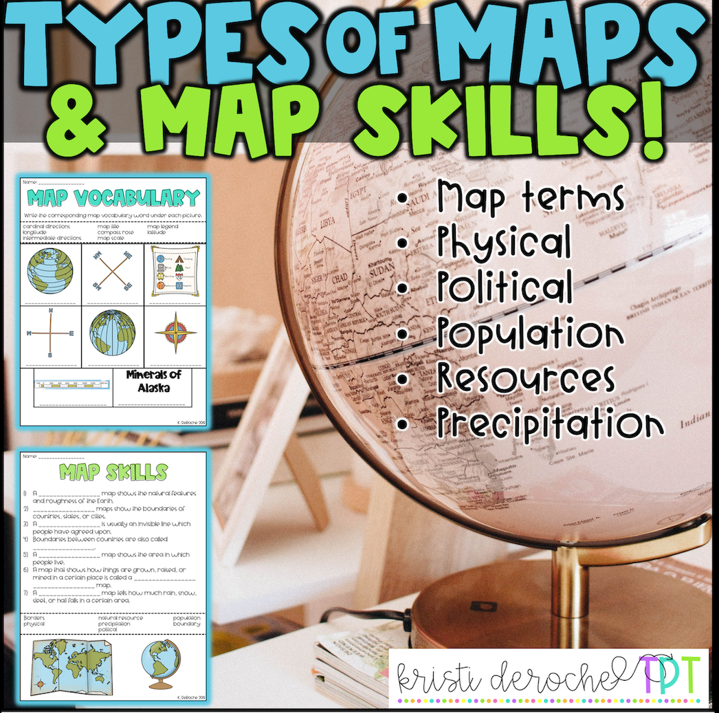 Types Of Maps And Map Skills Pack Social Stu S Grades 2