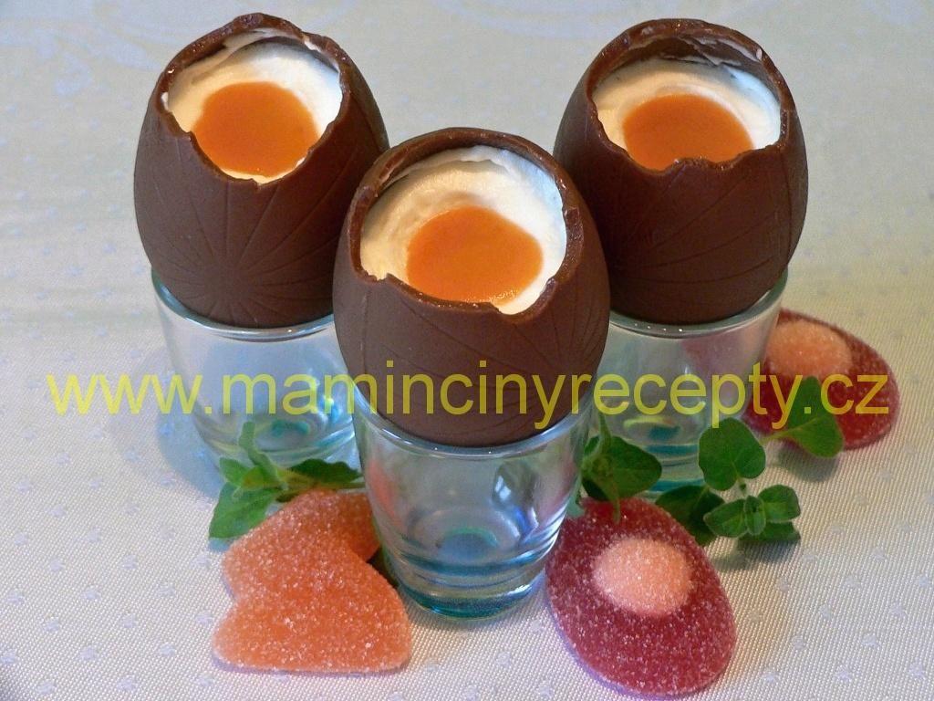 Čokoládová vejce plněná krémem