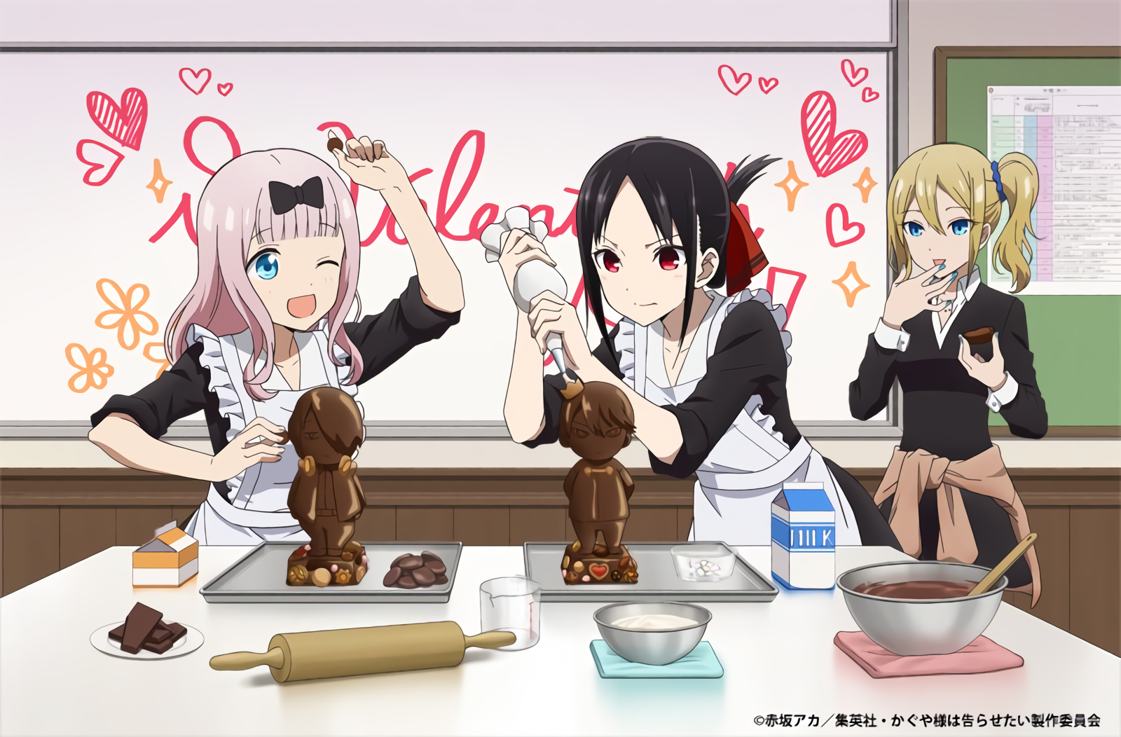 Making Chocolate For Valentine S Day Kaguya Sama Love Is War Chica Anime Kawaii Dibujos De Anime Anime