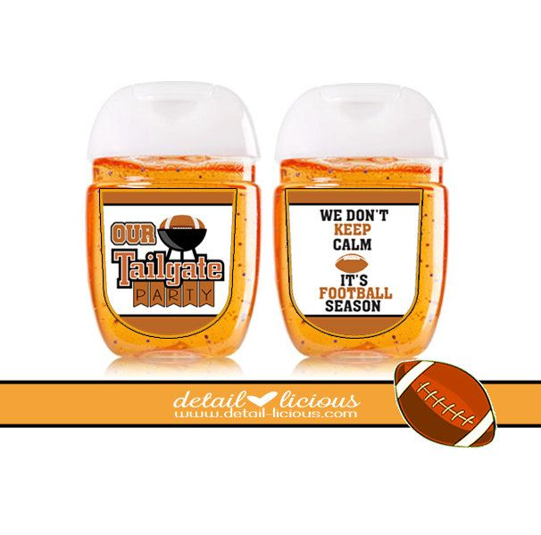 Mini Hand Sanitizer Favors Tailgating Favors Favor Football