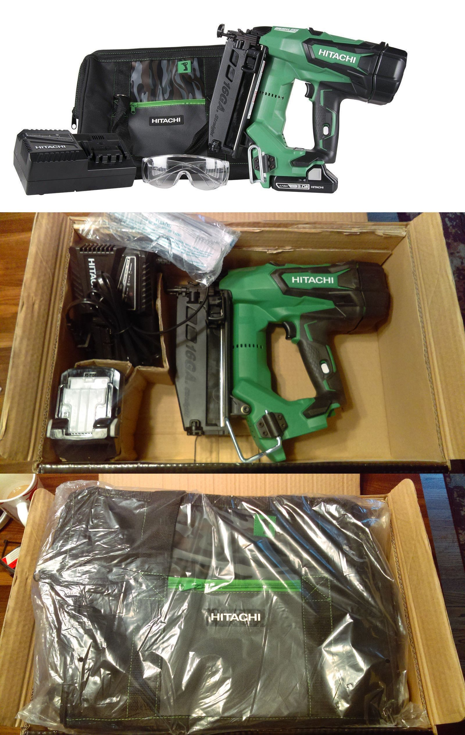 Nail And Staple Guns 122828 Cordless Finish Nailer Hitachi 16 Gauge 18v Batt Straight Finishing Trim Bonus Buy It Finishing Trim Finish Nailer Staple Guns