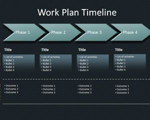 Workplan Timeline PowerPoint Template Is A Free Timeline Template - Project timeline template powerpoint free