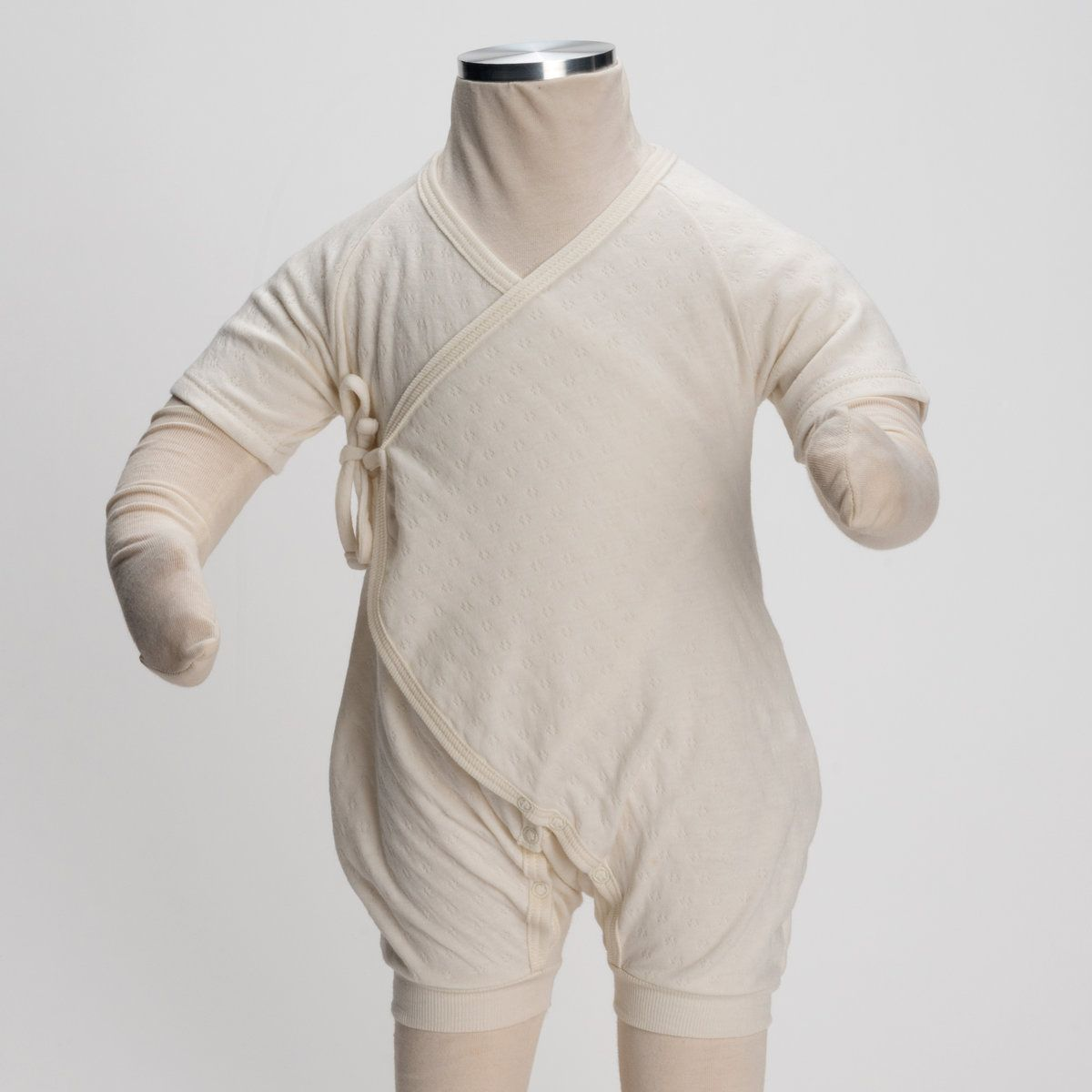 6-9 Months Luxurious Organic Infant and Baby Clothing: onesies : S/slv Kimono Onesie w/ Leggings