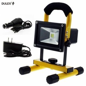 Led 20w Water Resistant Portable Rechargeable Flood Lamp Construction Safety Equipment Rechargeable Light Led Work Light Work Lights