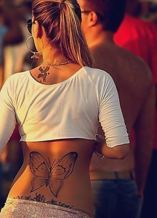 Butterfly Tattoo On Back Butterfly Tattoo Girl Tattoos