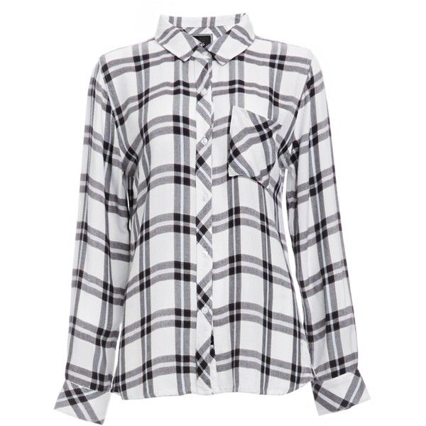 Rails Hunter Button Down Plaid Shirt ($137) ❤ liked on Polyvore featuring tops, shirts, white, tartan plaid shirt, plaid button up shirts, tartan top, white button up top and shirt tops