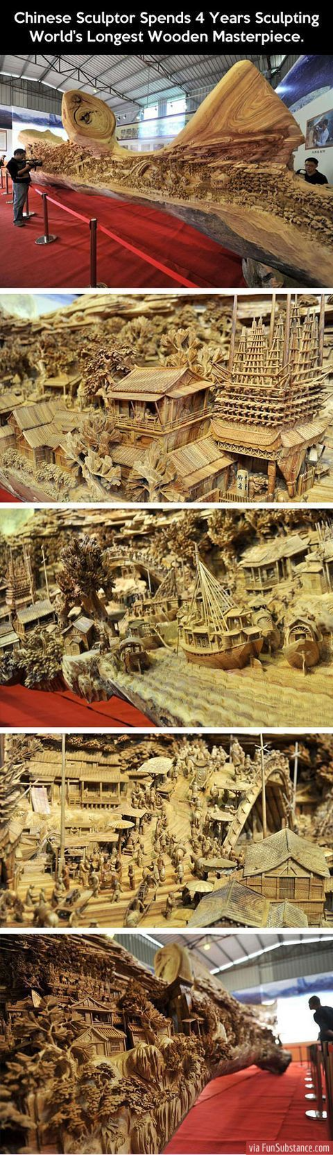 Worlds Longest Wooden Masterpiece FunSubstancecom Beauty Of - Artist spends year woods creating beautiful sculptures