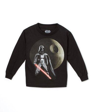Black Star Wars Darth Vader Long-Sleeve Tee - Boys #zulily #zulilyfinds