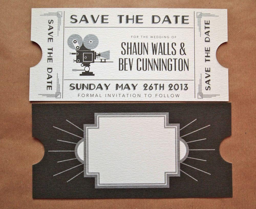 Art Deco Wedding Invitations | Art Deco is the word in wedding ...