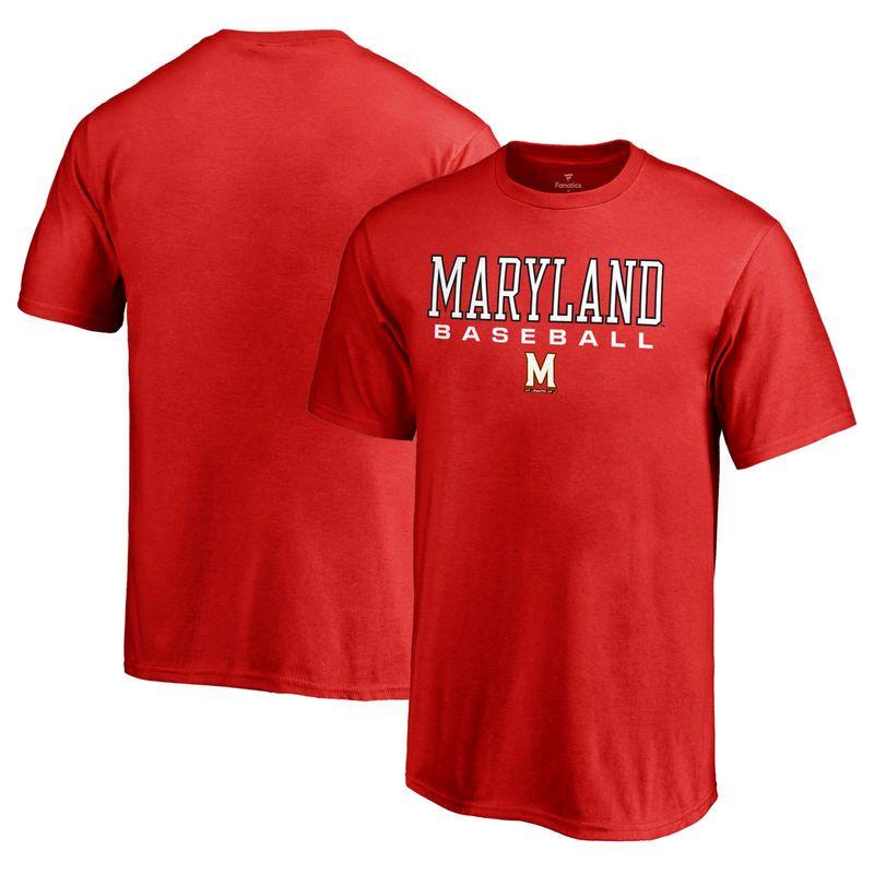 Maryland Terrapins Fanatics Branded Youth True Sport Baseball T-Shirt - Red