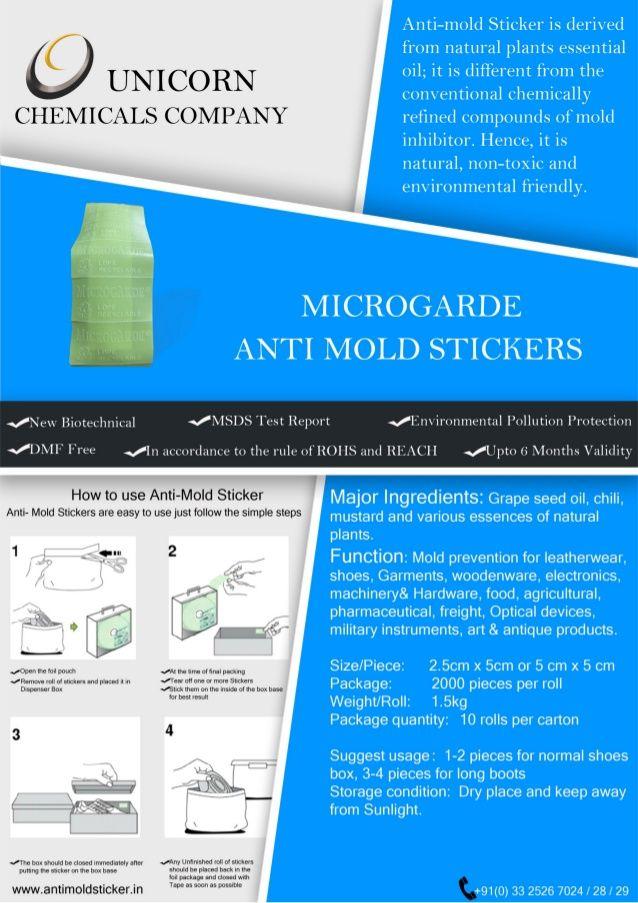 Antimold stickers