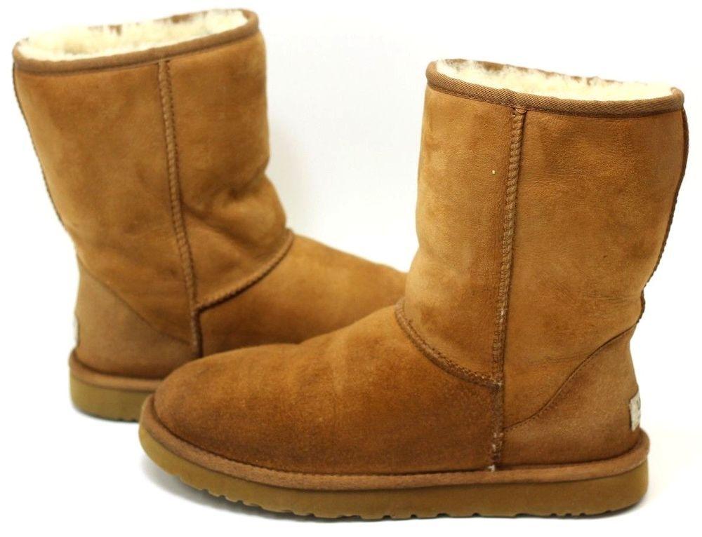 Chestnut Brown Suede Fur Boots Size