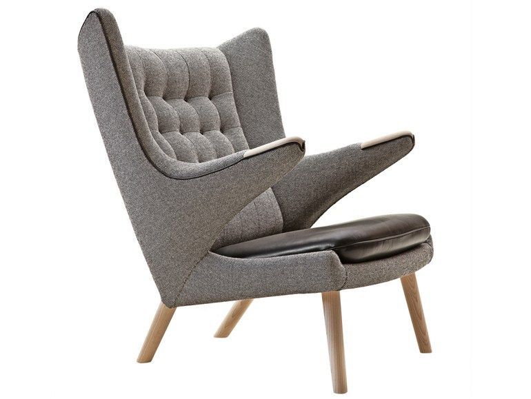 Superb Upholstered Armchair With Armrests PP19 THE TEDDY BEAR CHAIR   Fabric  Armchair By PP Møbler  