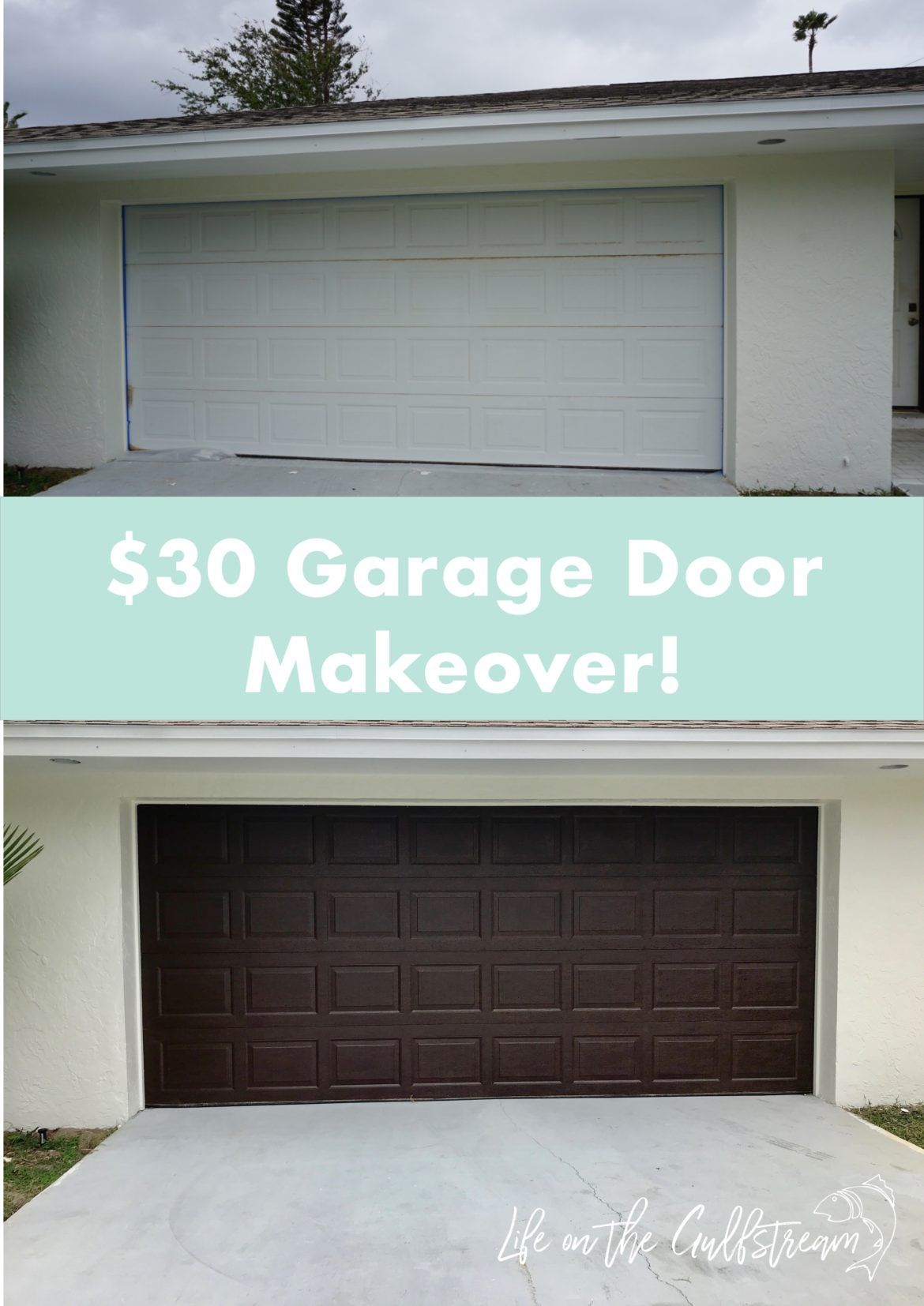 Gel Stain Wood Garage Door Makeover Life on the