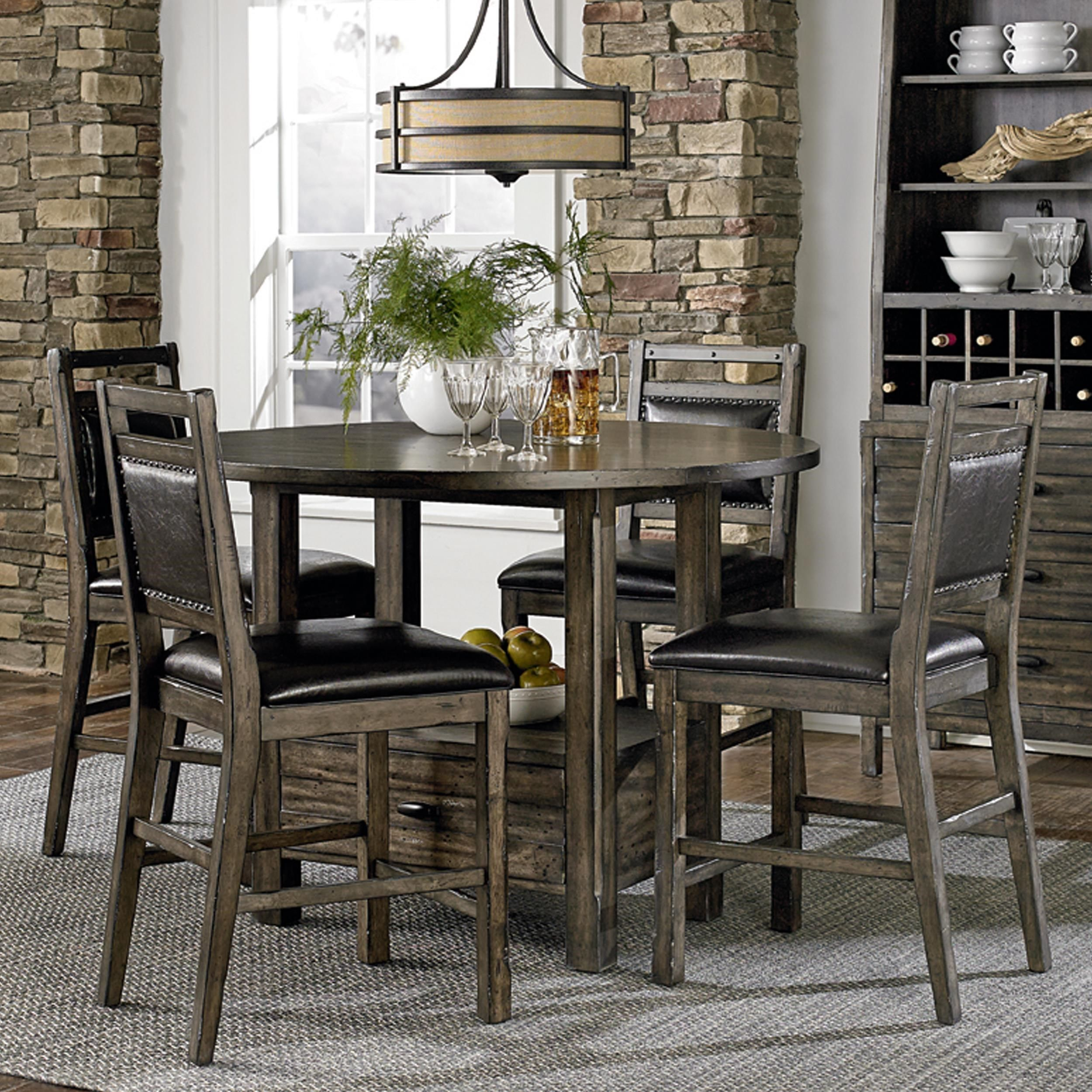 Rustic Abaco 5 Piece Counter Height Table Set By Progressive Furniture