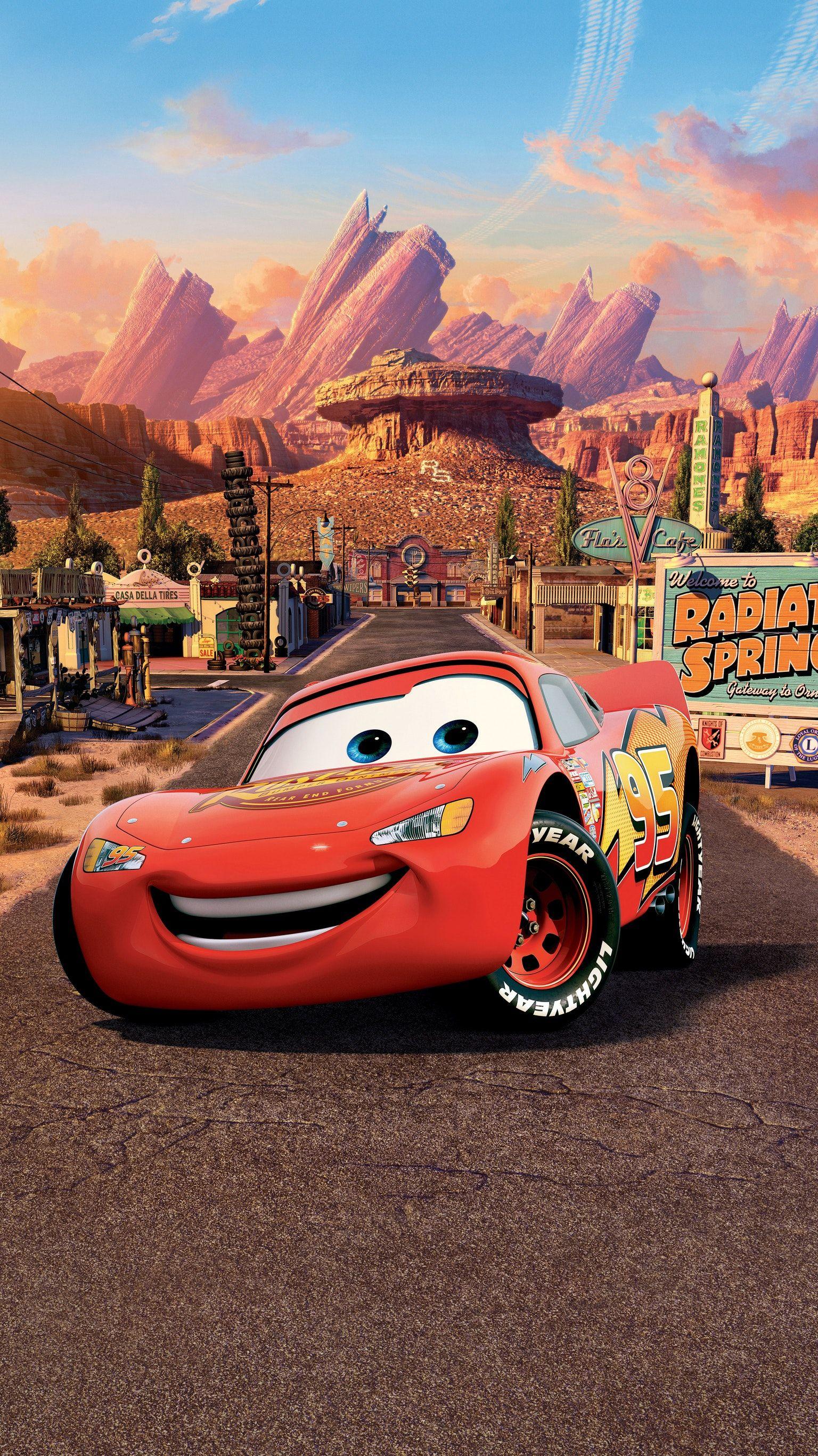 Cars (2006) Phone Wallpaper Cars cartoon disney, Disney