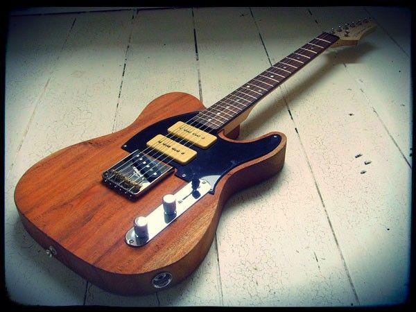 Creamery Custom Handmade Mahogany 3 Pickup Telecaster Guitar ...