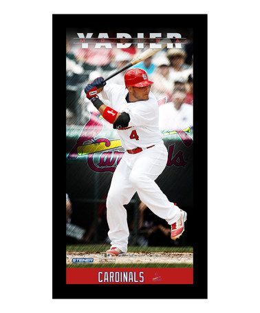 St Louis Cardinals Yadier Molina Framed Wall Art Zulily - Yadier molina wall decals