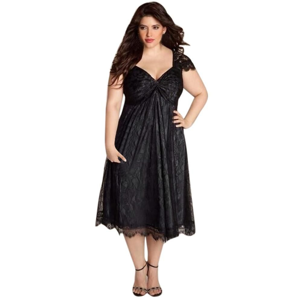 Plus size womenus sleeveless lace long evening party prom gown