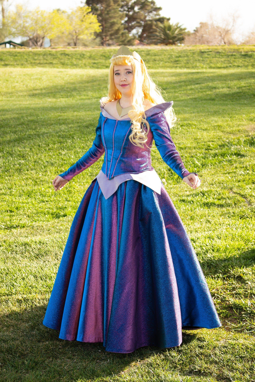 Custommade color changing aurora sleeping beauty dress