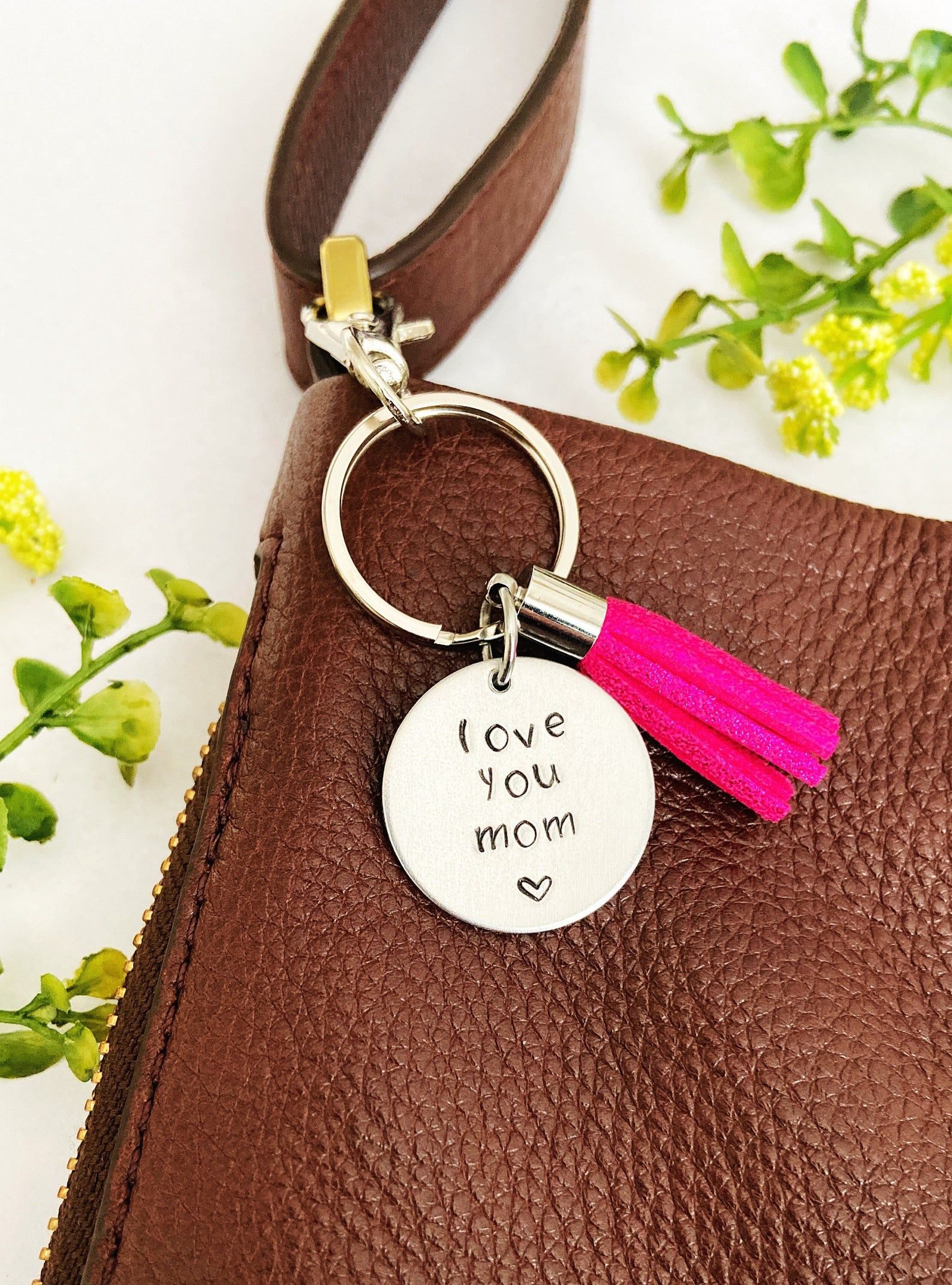 Mom gift from daughter son keychain for women mom keychain