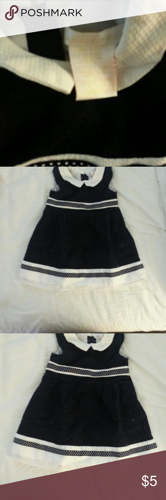 Maggie and zoe cute navy blue dress with white collar. looks very pretty.runs a little short Dresses